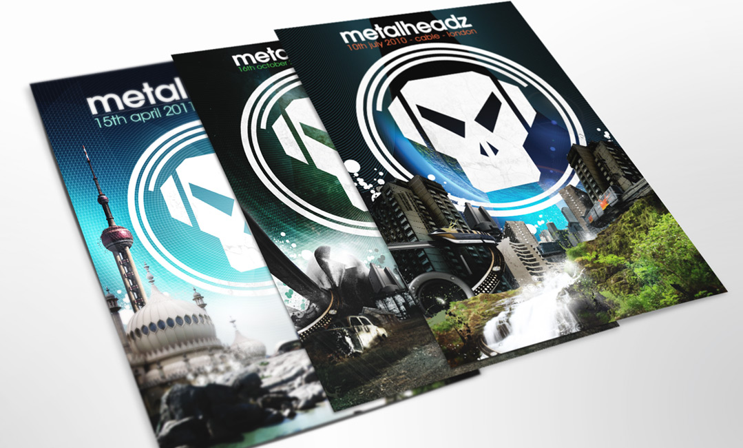 Metalheadz flyer design