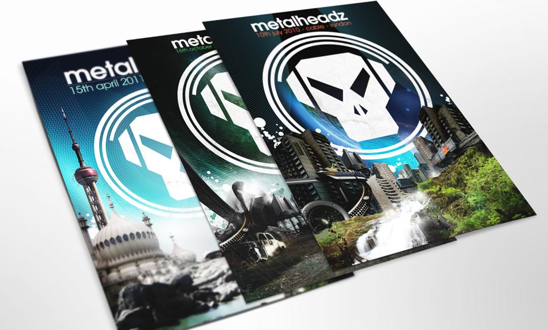 Metalheadz flyer design