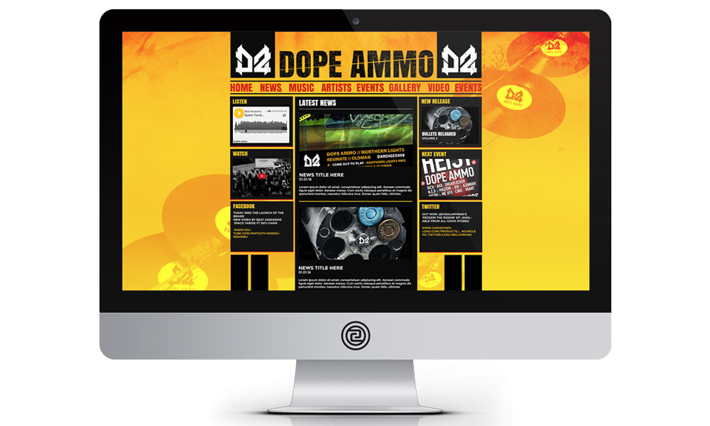web design for music industry